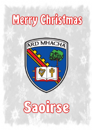 Personalised Armagh Crest Christmas Card